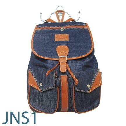 JNS 1 Ransel Bahan Jeans.  Rp. 50.000