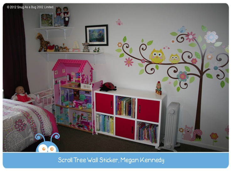 Scroll Tree Wall Sticker by Megan Kennedy.  Vote for Megan if you think this is the best kids room!