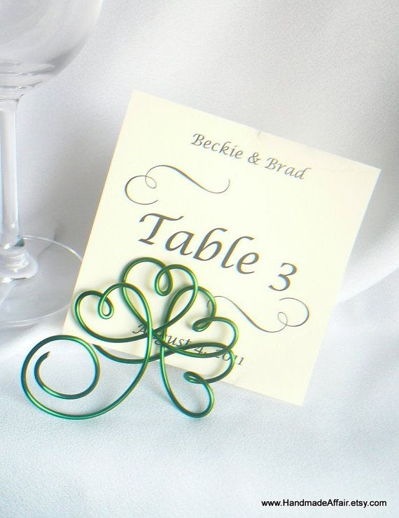 Irish Theme Wedding Decor Shamrock Place by HandmadeAffair on Etsy