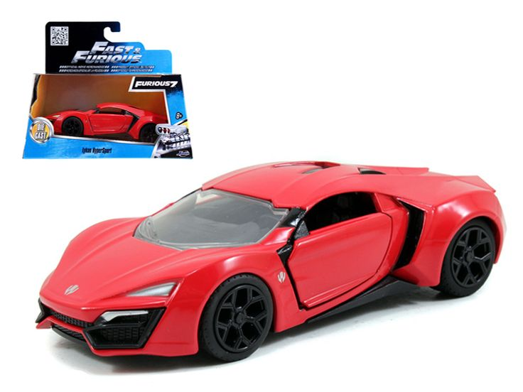 "Lykan Hypersport Red ""Fast & Furious 7"" Movie 1/32 Diecast Model Car by Jada - Brand new 1:32 scale diecast car model of Lykan Hypersport Red ""Fast & Furious 7"" Movie die cast car model by Jada. Opening doors. Detailed interior, exterior. Dimensions approximately L-4.5, H-2, W-2 inches. Please note that manufacturer may change packing box at anytime. Product will stay exactly the same.-Weight: 1. Height: 5. Width: 9. Box Weight: 1. Box Width: 9. Box Height: 5. Box Depth: 5"