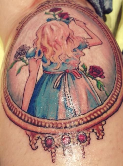 108 best images about tattoos on pinterest gypsy girl for Looking glass tattoos