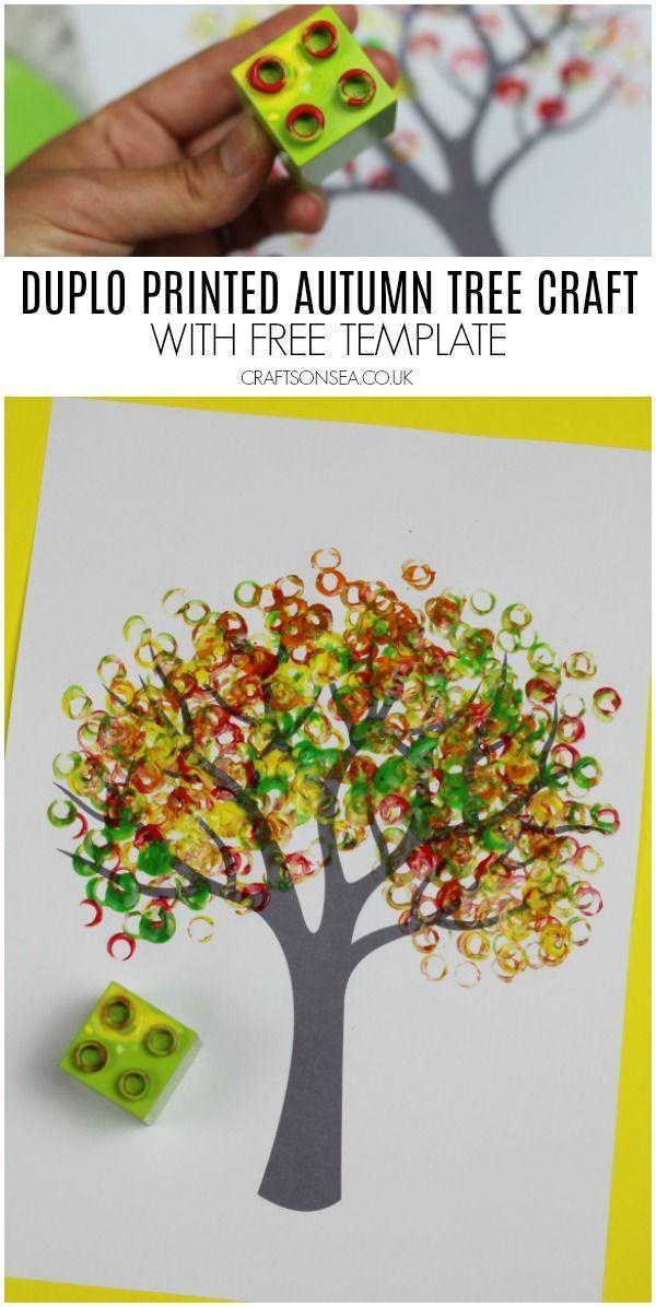 duplo imprimé automne arbre artisanat pour les enfants #automne #fallcrafts #kidsart #kidsactiv …