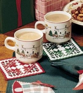Hardanger+Embroidered+Coaster+Craft+|+Crafts+for+the+Home+|+Embroidery+|+Love+the+Country