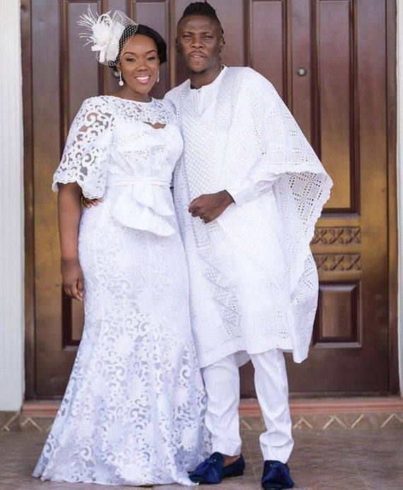 African Couples Outfits, Husband And Wife Combination