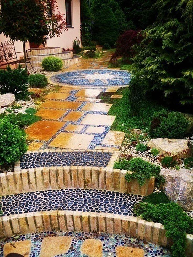 Weg Mit Travatin Und Kieseln: Mediterraner Garten Von Neues Gartendesign By  Wentzel