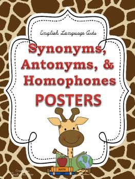 37 best Synonyms, Antonyms, Homonyms images on Pinterest ...