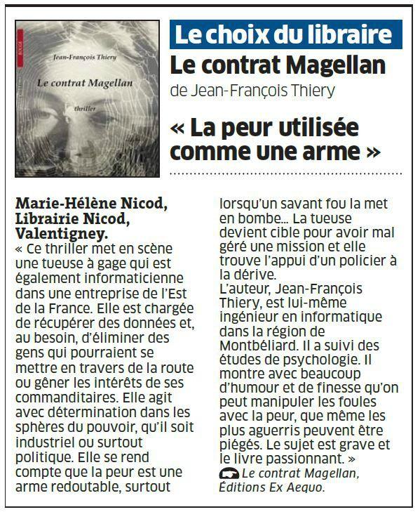 Est Republicain - Le contrat Magellan, 28 décembre 2013