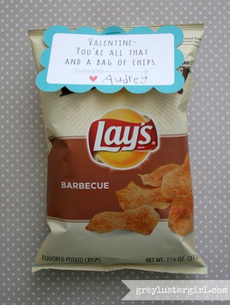 Chips Valentine for kids
