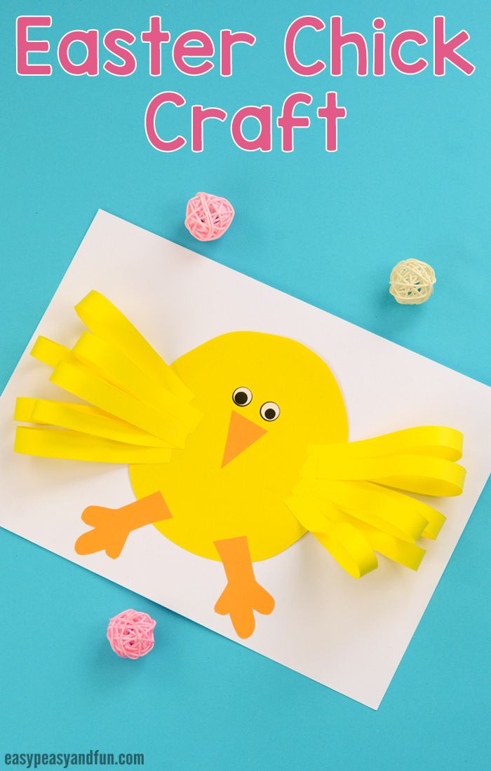 Easter Chick Paper Craft for Kids