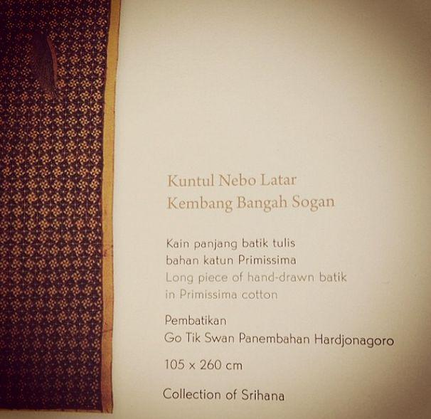 Long piece of hand-drawn batik at Dalem Hardjonegaran #gotikswan #livefromapsda2014 #apsdaday2 #creativetour pic of @ayujoddy