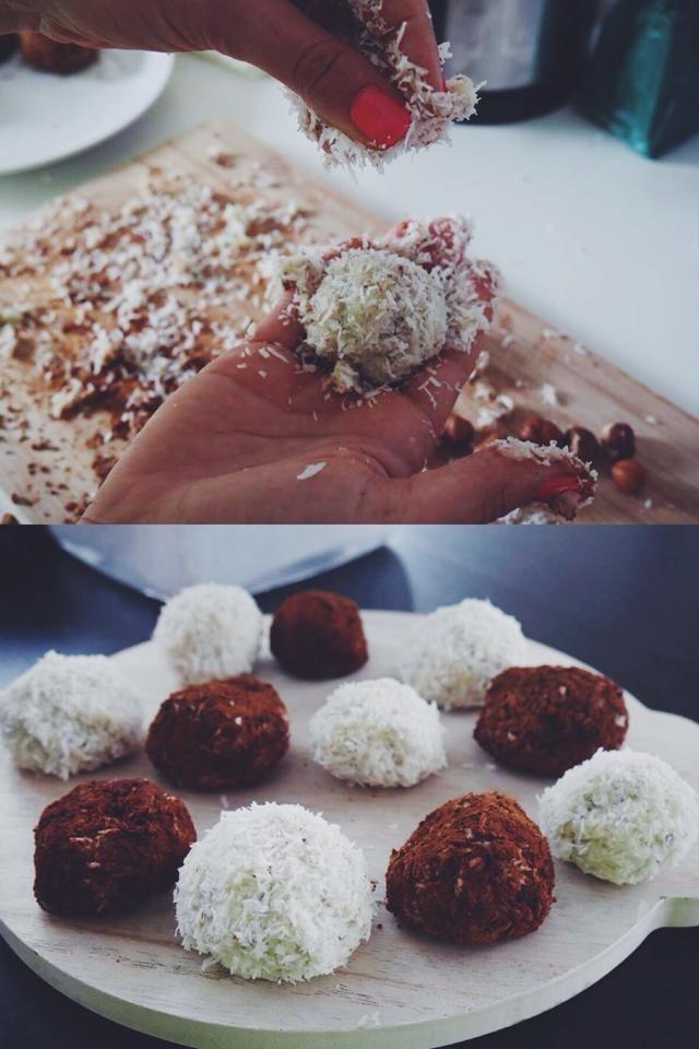 Wielkanocne słodkości - Rafaello w czerni i bieli :) - healthy plan by ann