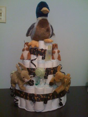 For Baby Smith??? Hunting Other • Lil' Hunter - Camoflauge Diaper Cake! - Louisiana Sportsman Classifieds, LA