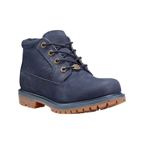 Luxury Timberland Boots Womens UK 4 Navy Blue Nubuck Navy White Fabric Laces Walking UK-VIRA2DIQ