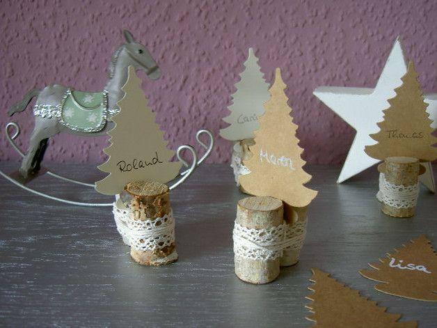 ❤️ 4 Platzkarten für Nikolaus Weihnachten Landhaus