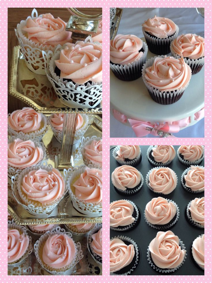 Baby girl baptism -cupcakes cakepops cookies all in pink