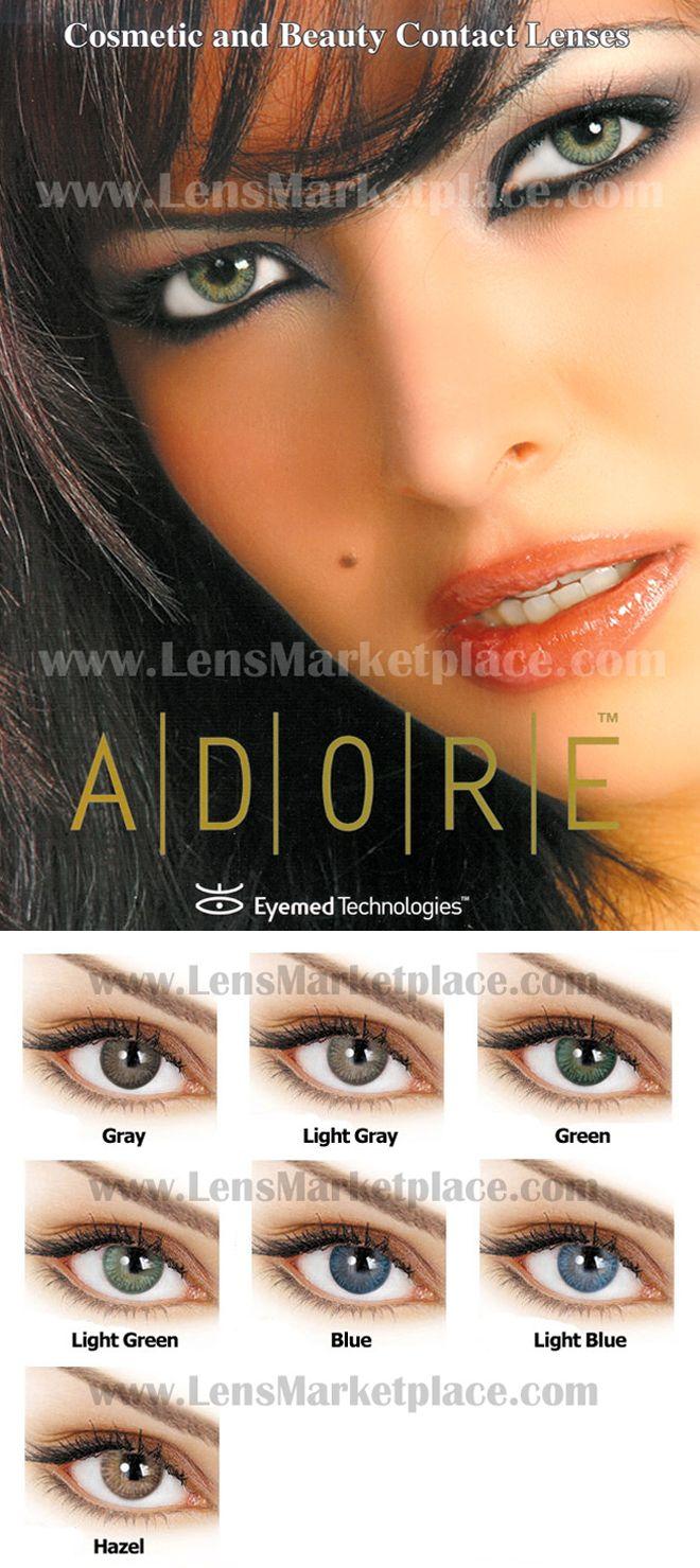 Color contact lenses online shop - Adore Tri Tone Colored Contact Lenses Gray Light Gray Green Light
