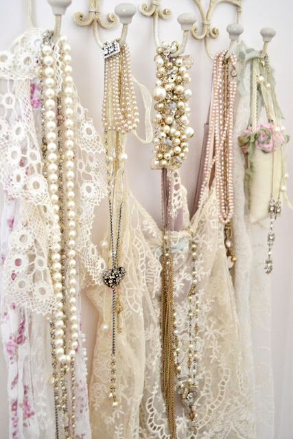:)Coats Hooks, Brides Grooms, Vintage Accessories, Jewelry Display, Vintage Lace, Shabby Chic, Pearls, Private Collection, Southern Girls