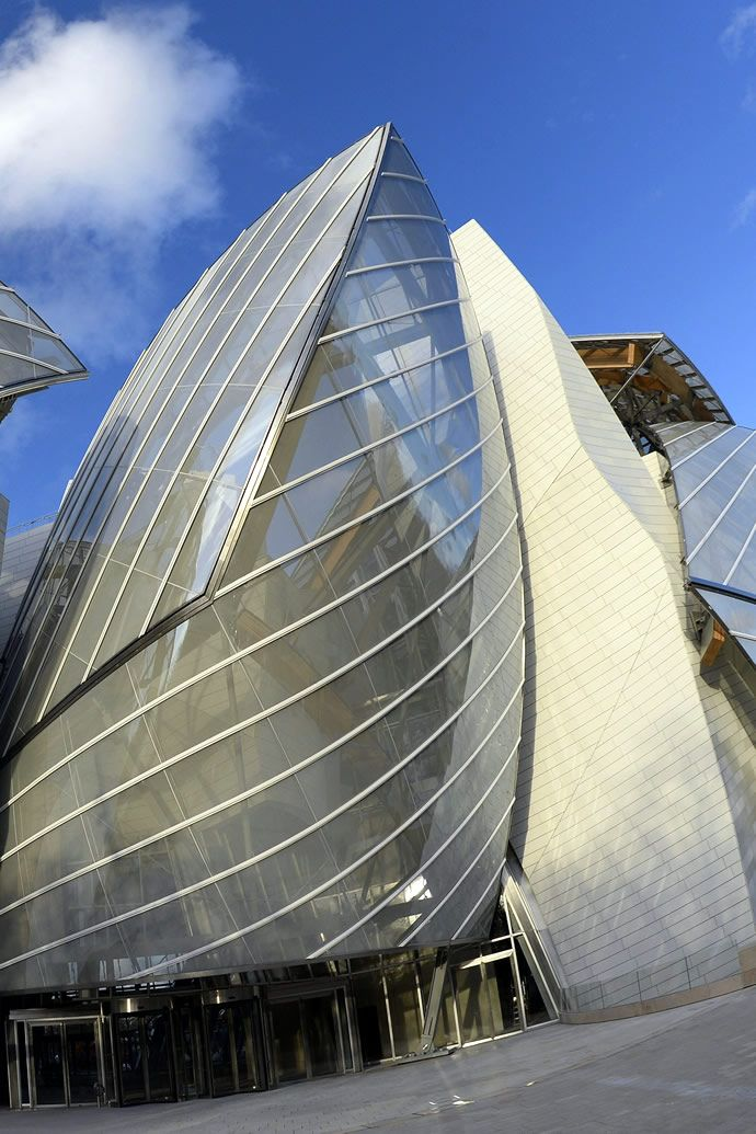 The $123 million Louis Vuitton museum is all set to open in Paris on  October 27  Frank GehryModern ArchitectureLouis ...