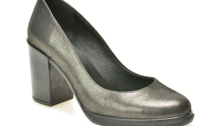 Pantofi FLAVIA PASSINI gri, 373158, din piele naturala