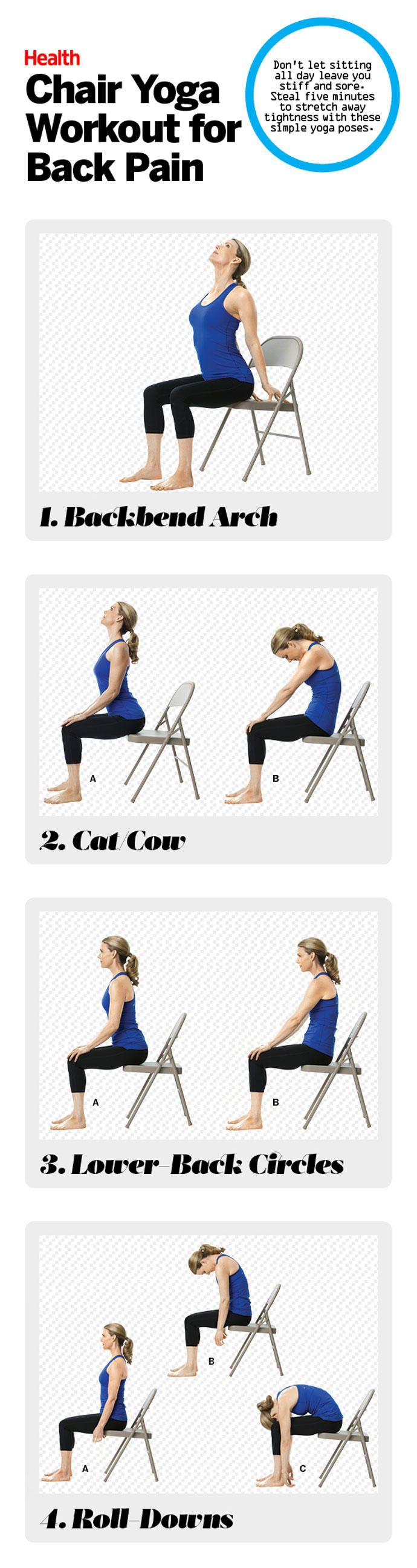 17 best ideas about chair yoga poses on pinterest office for Chair exercises