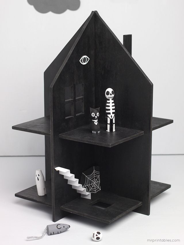 Haunted Dolls House / free templates - Mr Printables