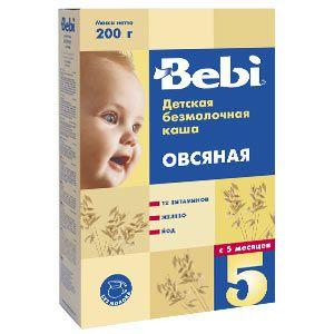 Безмолочная овсяная каша Беби (Bebi). Дешево купить в интернет-магазине Карапузики с бесплатной доставкой в Тюмени.