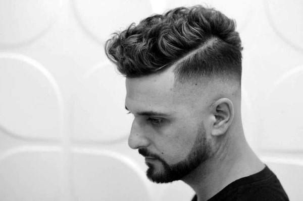 25 Curly Fade Haircuts For Men Manly Semi Fro Hairstyles Male Haircuts Curly Hairstyles Haircuts Short Curly Hair