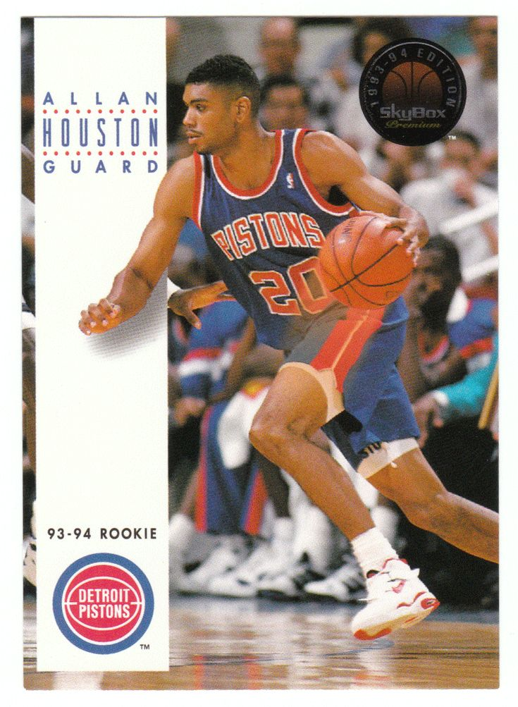 Allan Houston RC # 221 - 1993-94 SkyBox Premium Basketball NBA Rookie