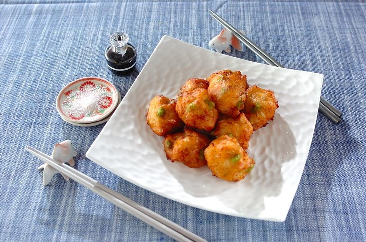 Fried scallop drop