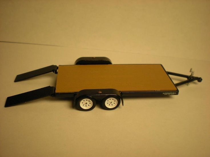 FLAT BED CAR HAULER TRAILER WITH RAMPS MODEL 1/64 SCALE LIMITED EDITION  | eBay