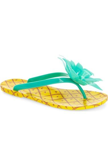 kate spade new york 'flynn' pineapple flip flop (Women) available at #Nordstrom