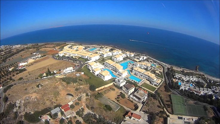 Crete Xersonisos Anisaras summer 2013 Aerial view HD