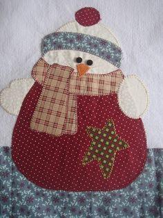 Pano De Prato Natal boneco de neve