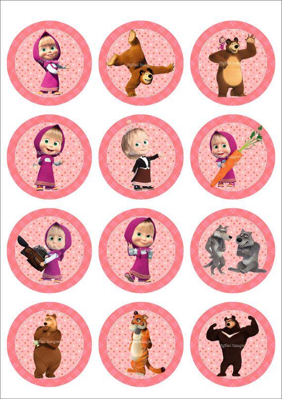 25 Digital Collage Sheet.Masha and the bear.Digital by LaVanda36
