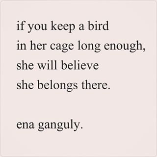 On forced belonging. | 16 Poems That'll Make You Fall In Love With Bengali-American Poet Ena Ganguly