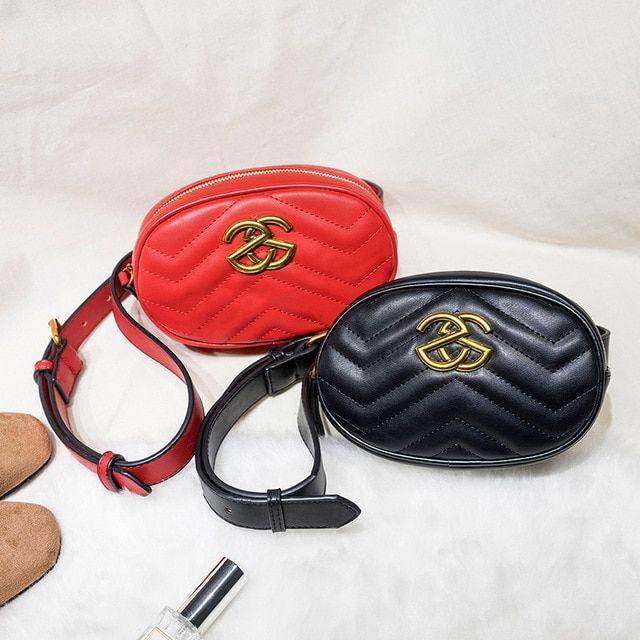 091f0e00a HaLuYa Leather Velvet Waist Bag Women Luxury Brand Waist Purse Ladies  Fashion Fanny Packs For Women Bag Belt 2018 Red Black Review