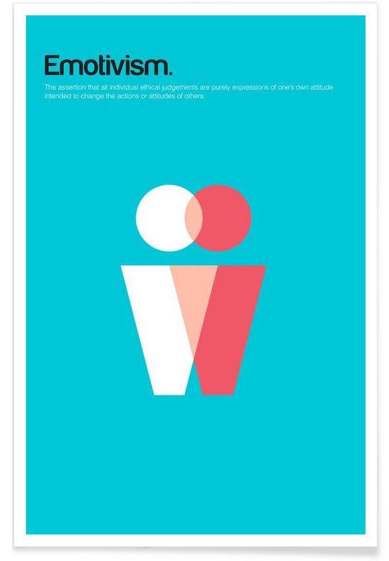 Emotivism als Premium Poster von Studio Carreras | JUNIQE
