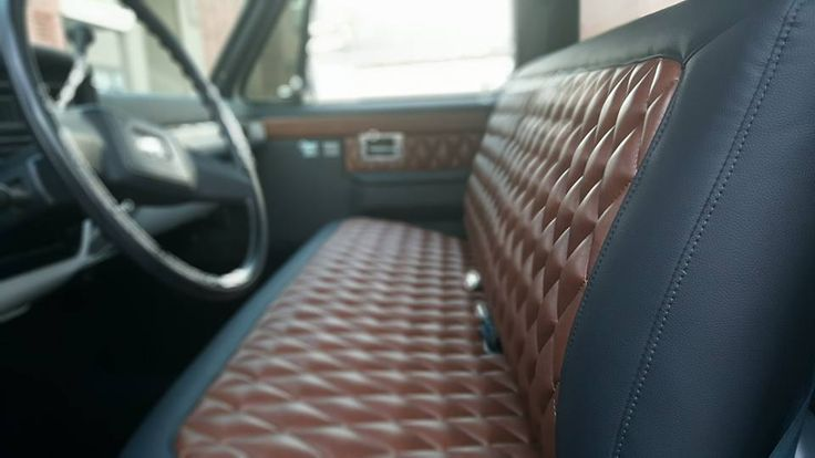 A really amazing looking vintage pickup bench seat.