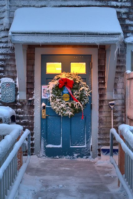 Nantucket Christmas Door
