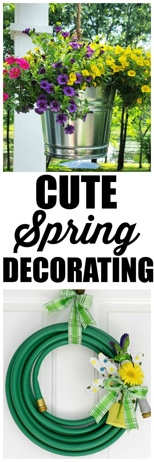 Super cute Spring decorating on this blog!