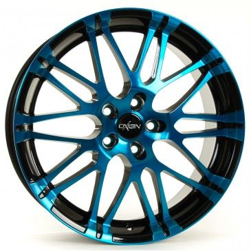 OXIGIN 14 Oxrock Felgen light blue polish (schwarz blau mehrfarbig) in 17 Zoll - Felgenshop.de