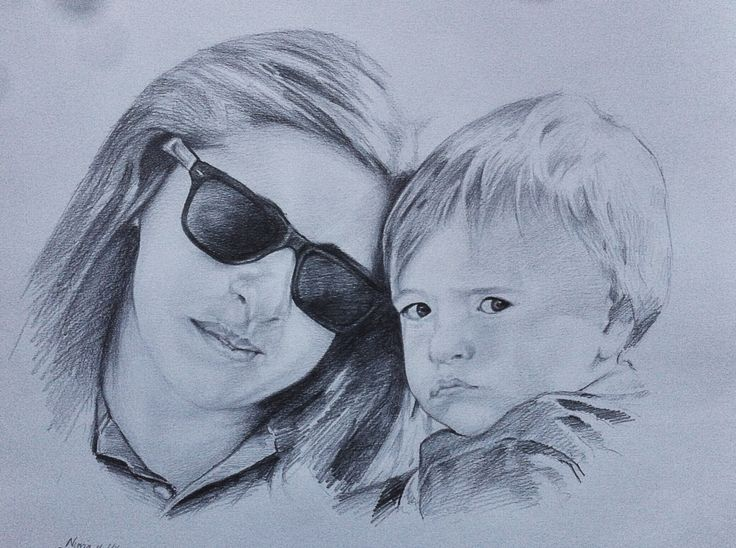 Mother and son from Argentina.