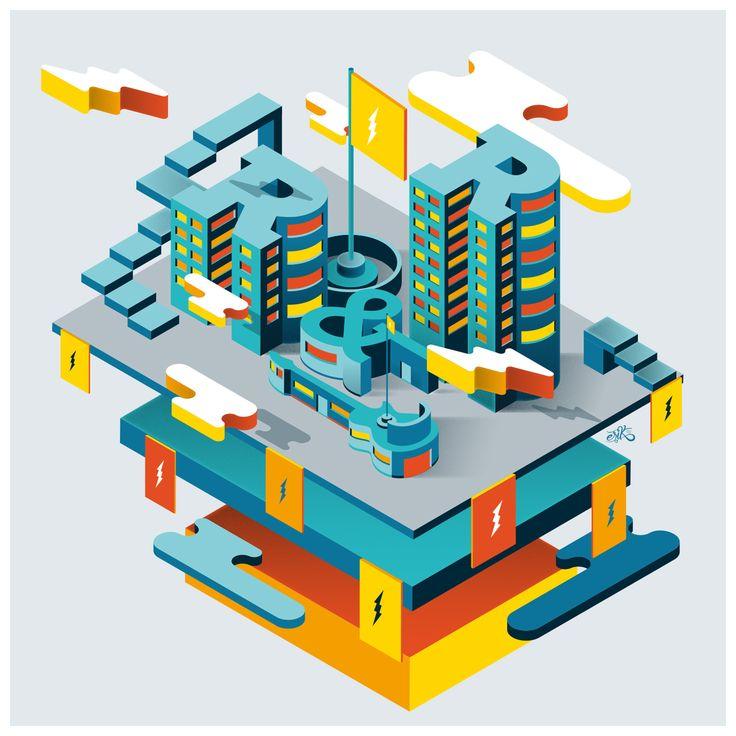 다음 @Behance 프로젝트 확인: \u201cRock & roll city\u201d https://www.behance.net/gallery/44373527/Rock-roll-city