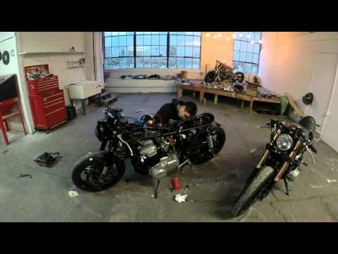 how to build a honda cb750 cafe racer in 4 minutes - bikerMetric