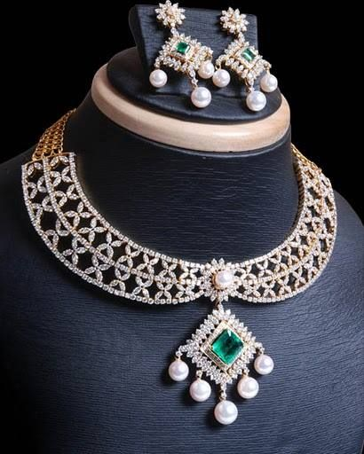 Find the gorgeous diamond jewelry sets at new maria jewellers www.newmariajewellers.com