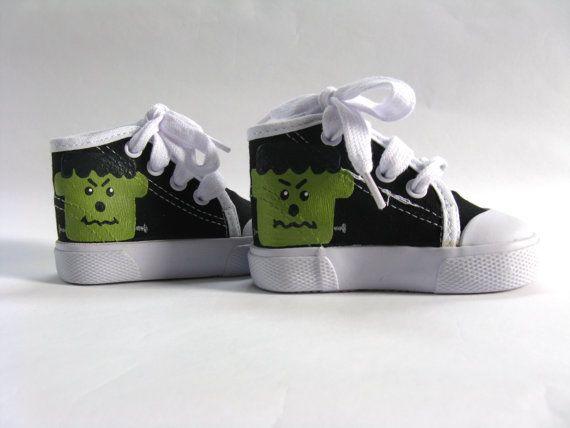 Zapatillas Frankenstein Halloween traje por boygirlboygirldesign