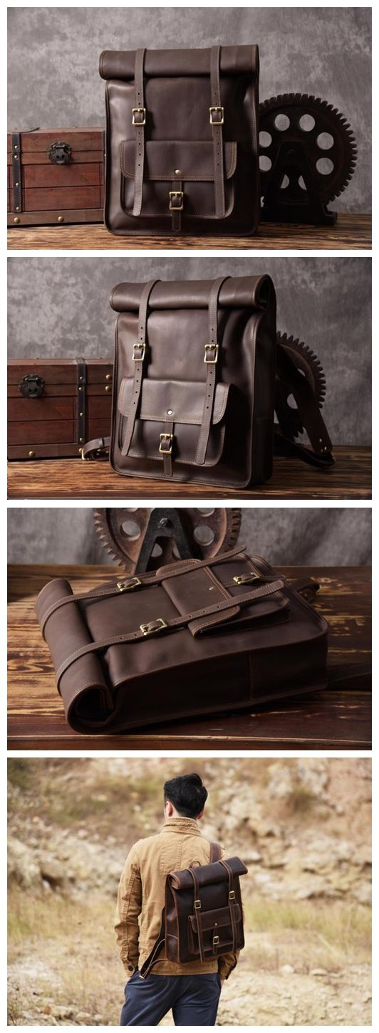 Original Design Handmade Top Grain Leather Backpack Travelling Backpack Laptop Backpack MG33 -------------------------------- Overview: Design: Vintage Genuine Leather Backpack In Stock: 3-5 Business