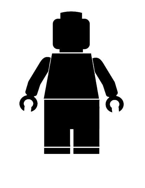 Free Lego Man download. Use to make Lego t-shirts for the guests/birthday boy or girl!