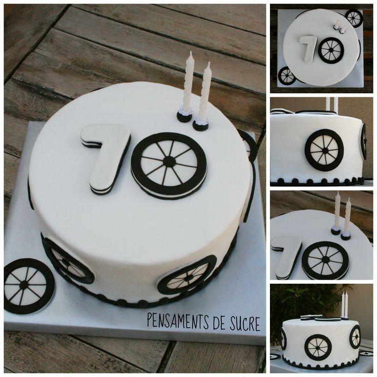 Patís de fondant per celebrar els 70 anys d'un ciclista.