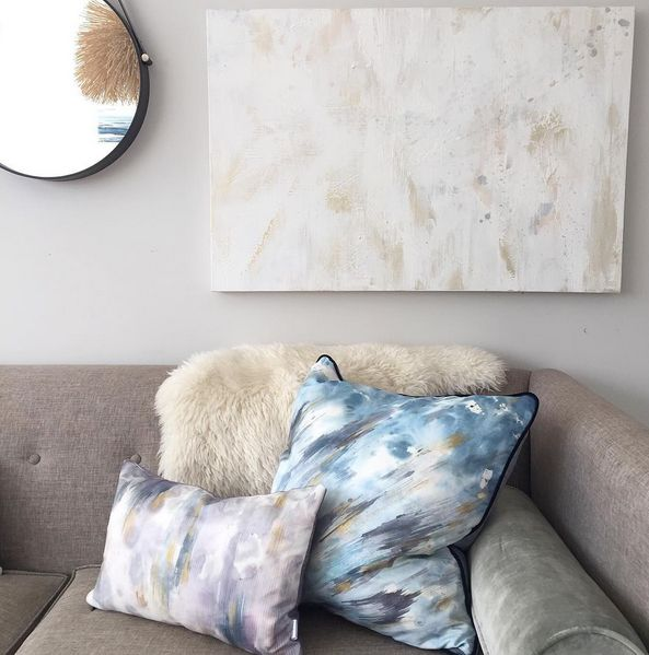 An exclusive collaboration with emerging Vancouver artist, Dana Mooney, the Smokeshowand Lumenance collections are both luxurious and exciting, while also moody and brooding. The pillows evoke movement in the brushstrokes and layers of saturation that provide depth. Each pillow has been uniquely treated by hand with gold fabric paint. No two pillows are alike. www.jouedesign.com www.danamooney.com